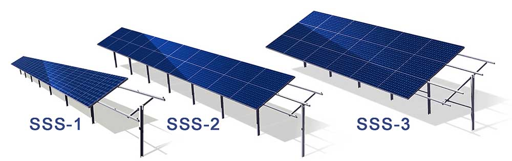 solar mounting constructions статичні одноопорні системи