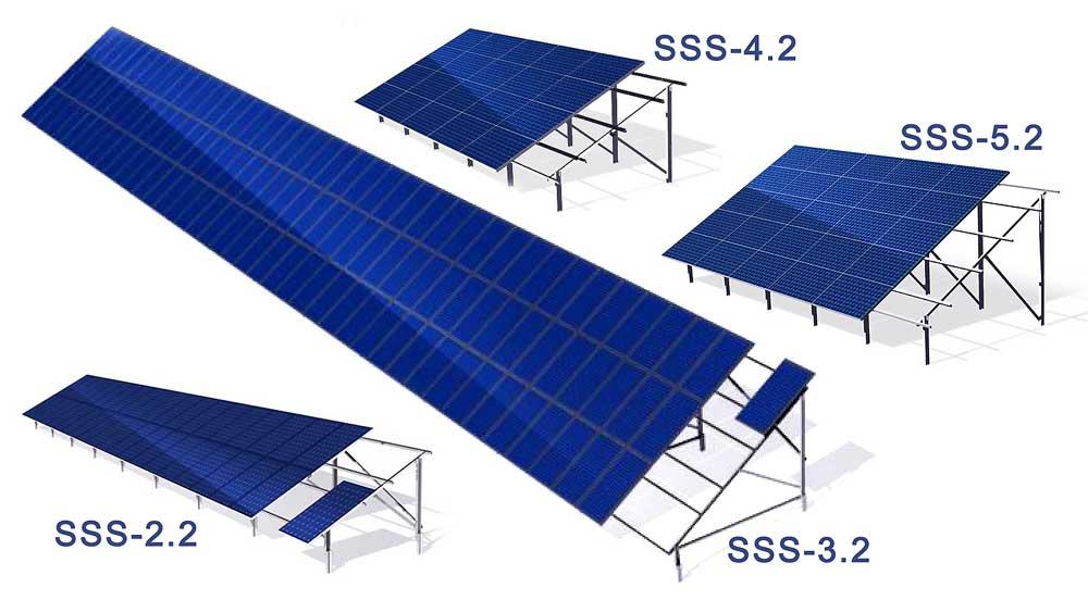 solar mounting constructions статичні двоопорні системи