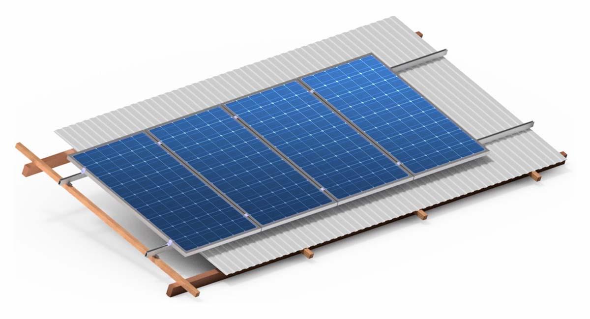 конструкції для похилого даху УС Солар solar structures for sloped roof US Solar