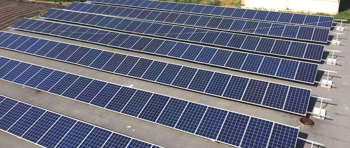 дахові сонячні конструкції rooftop solar systems